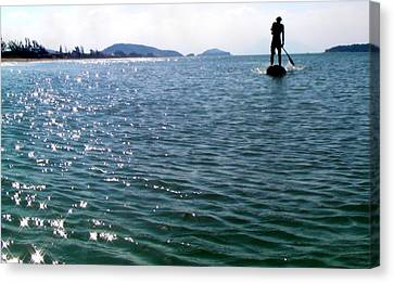 A Moment Of Enjoy Sup #1 Canvas Print by Chikako Hashimoto Lichnowsky