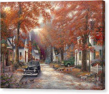 A Moment On Memory Lane Canvas Print by Chuck Pinson