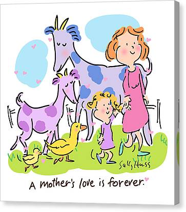 A Mother's Love Canvas Print by Sally Huss