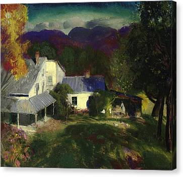 A Mountain Farm Canvas Print by George Wesley Bellows