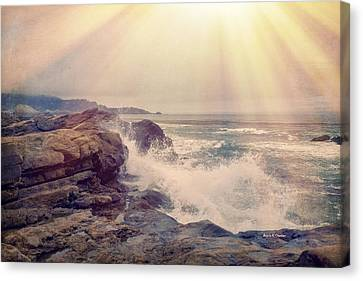 A Mysterious Morning - Point Lobos Canvas Print by Angela A Stanton