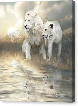 A New Beginning Canvas Print by Carol Cavalaris