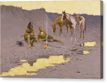 A New Year On The Cimarron Canvas Print by Fredrick Remington
