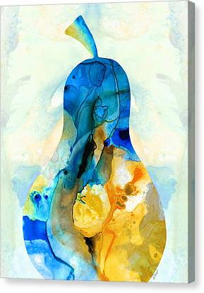 A Nice Pear - Abstract Art By Sharon Cummings Canvas Print by Sharon Cummings