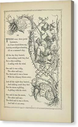 A Nursery Rhyme Canvas Print by British Library
