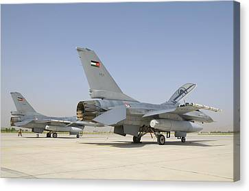 A Pair Of Royal Jordanian Air Force Canvas Print by Giovanni Colla