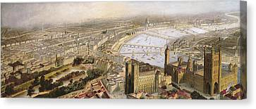 A Panoramic View Of London Canvas Print by English School