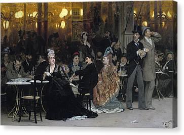 A Parisian Cafe Canvas Print by Ilya Efimovich Repin