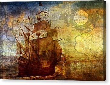 A Pirates Life Vintage Canvas Print by Georgiana Romanovna