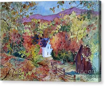 A Place In The Hills Canvas Print by Sherri Crabtree