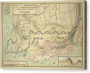 A Plan Of Chatham Canvas Print by British Library