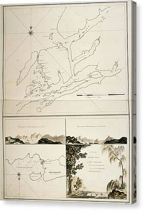 A Plan Of Dusky Bay In New Zealand Canvas Print by British Library