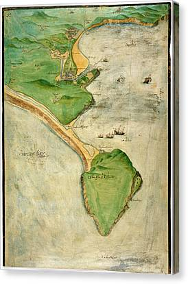 A Plan Of The Island Of Portland Canvas Print by British Library