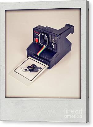 A Polaroid Of A Polaroid Taking A Polaroid Of A Polaroid Taking A Polaroid Of A Polaroid Taking A .. Canvas Print by Mark Miller