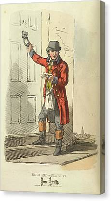 A Postman Canvas Print by British Library