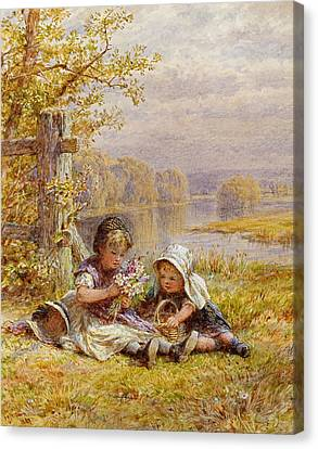 A Posy For Mother Canvas Print by William Stephen Coleman