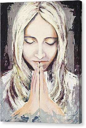 A Prayer... Canvas Print by Elisabeta Hermann