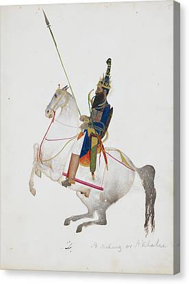 A Prosperous Akali Mounted On Horseback Canvas Print by British Library