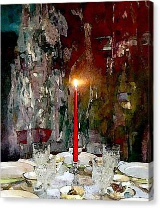 A Quaint Table Setting Canvas Print by Lisa Kaiser