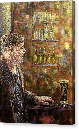 A Quiet Guinness Canvas Print by John  Nolan