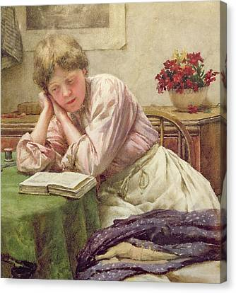 A Quiet Read Canvas Print by Walter Langley