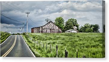 A Quilted Barn Canvas Print by Heather Applegate
