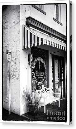 A Real Barber Shop Canvas Print by John Rizzuto