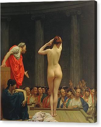 A Roman Slave Market Canvas Print by Jean Leon Gerome