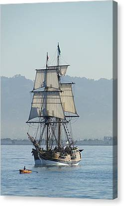 A Row With Lady Washington Canvas Print by Barrie Woodward
