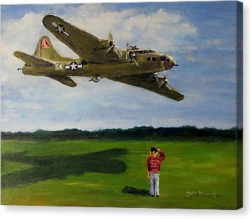 A Salute To The Greatest Generation Canvas Print by Jack Skinner
