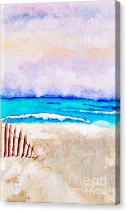 A Sand Filled Beach Canvas Print by Chrisann Ellis