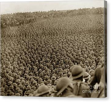 A Sea Of Helmets World War One 1918 Canvas Print by California Views Mr Pat Hathaway Archives
