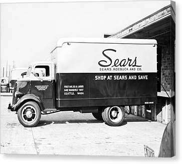 A Sears Roebuck Delivery Truck Canvas Print by Underwood Archives