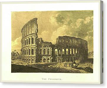 A Select Collection Of Views And Ruins In Rome Canvas Print by Litz Collection