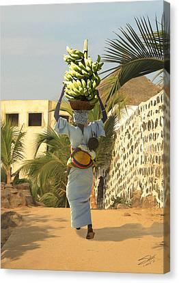 A Senegalese Mother And Child Canvas Print by Schwartz