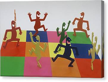 A Shortcut To Happiness - Dancing Canvas Print by Peter Michel