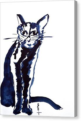 A Sketchy Cat Canvas Print by Beverley Harper Tinsley