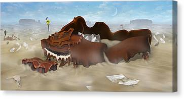 A Slow Death In Piano Valley - Panoramic Canvas Print by Mike McGlothlen