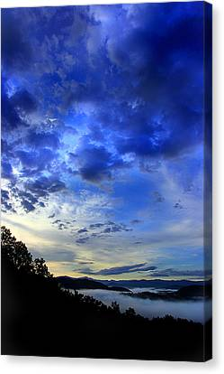 A Smoky Mountain Dawn Canvas Print by Michael Eingle