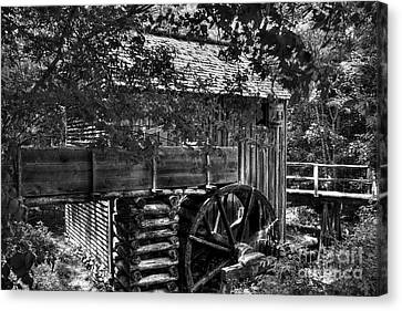 A Smoky Mountain Mill  Canvas Print by Mel Steinhauer