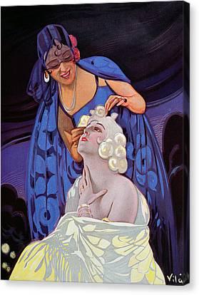 A Spanish Hairdresser Canvas Print by Vila