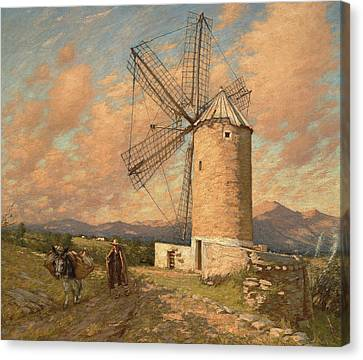 A Spanish Mill Canvas Print by Henry Herbert La Thangue