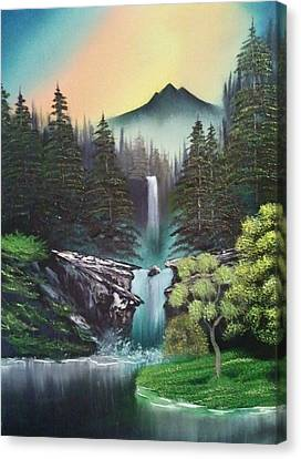 A Special Mountain Spot Canvas Print by Lee Bowman