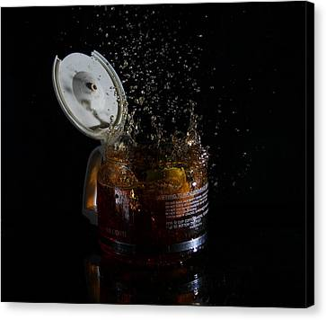 A Splash Of Coffee Canvas Print by Randy Turnbow