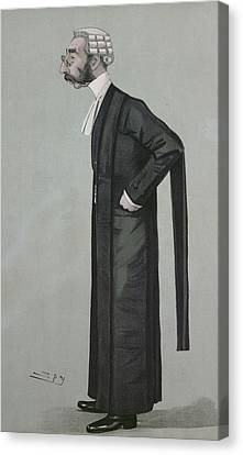 A Sporting Lawyer, Form Vanity Fair, 17th March 1898 Colour Litho Canvas Print by Leslie Mathew Ward