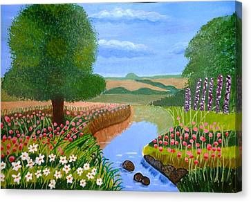 A Spring Stream Canvas Print by Magdalena Frohnsdorff