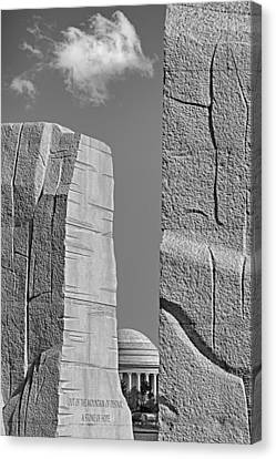 A Stone Of Hope Bw Canvas Print by Susan Candelario