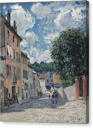 A Street, Possibly In Port-marly, 1876 Canvas Print by Alfred Sisley