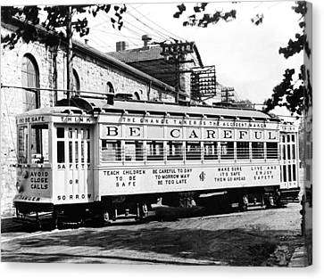 A Streetcar Named Safety First Canvas Print by Underwood Archives