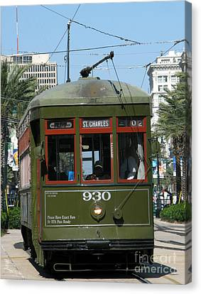 A Streetcar Named Something Else Canvas Print by Olivier Le Queinec